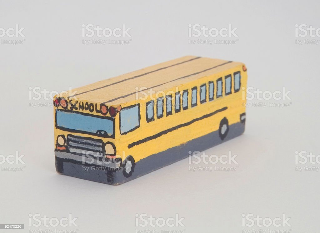 Wooden Schoolbus royalty-free stock photo