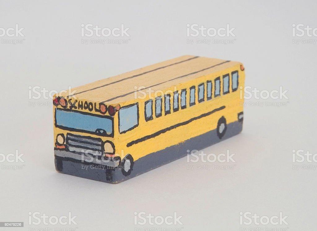 Holz-amerikanischer Schulbus- unterschiedliche Lizenzfreies stock-foto