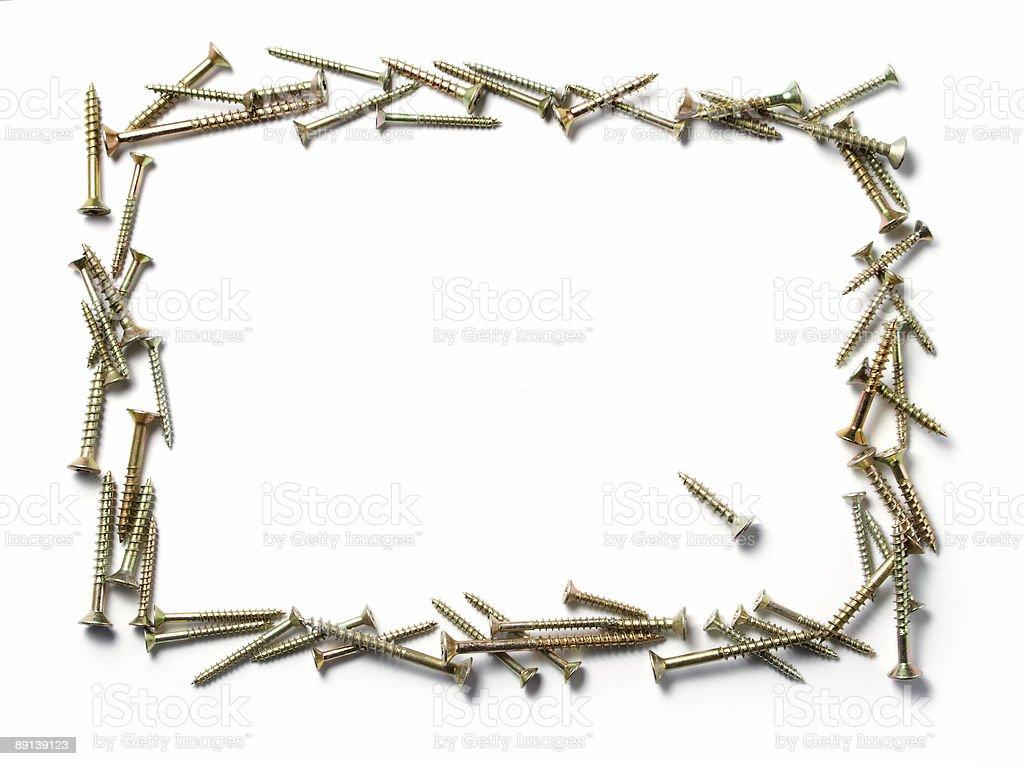 wooden screws frame royalty-free stock photo