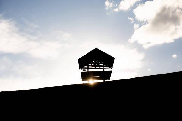 Holzhütte am Aussichtspunkt – Foto
