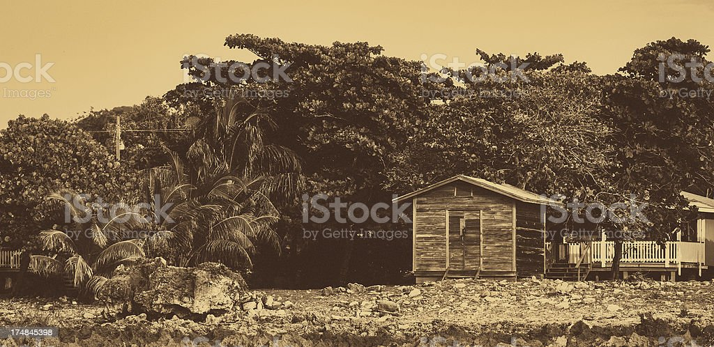 wooden shack stock photo