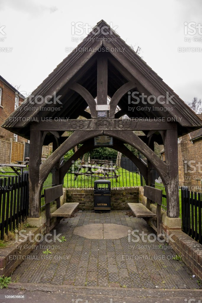 Wooden Shelter stock photo
