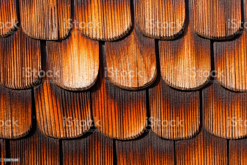 Wooden Shingles Background Pattern royalty-free stock photo