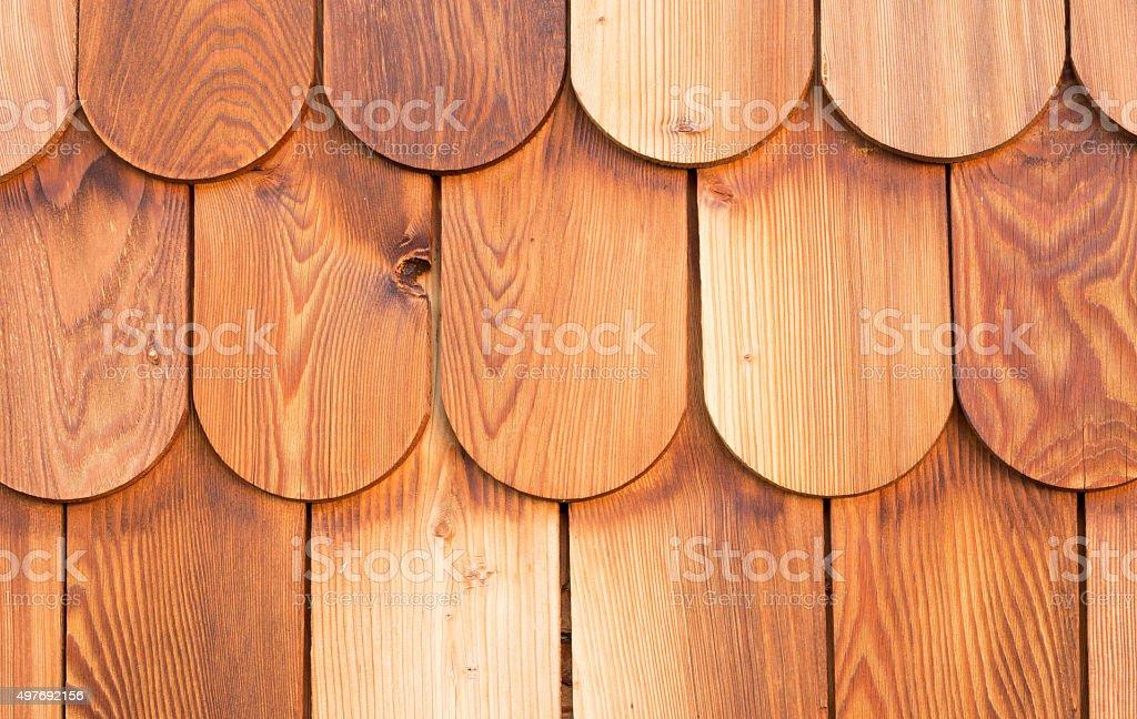 wooden shingles pattern stock photo