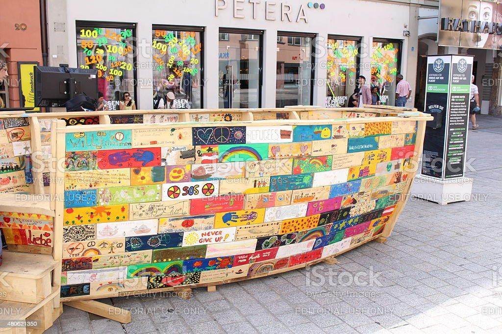 Wooden ship stock photo