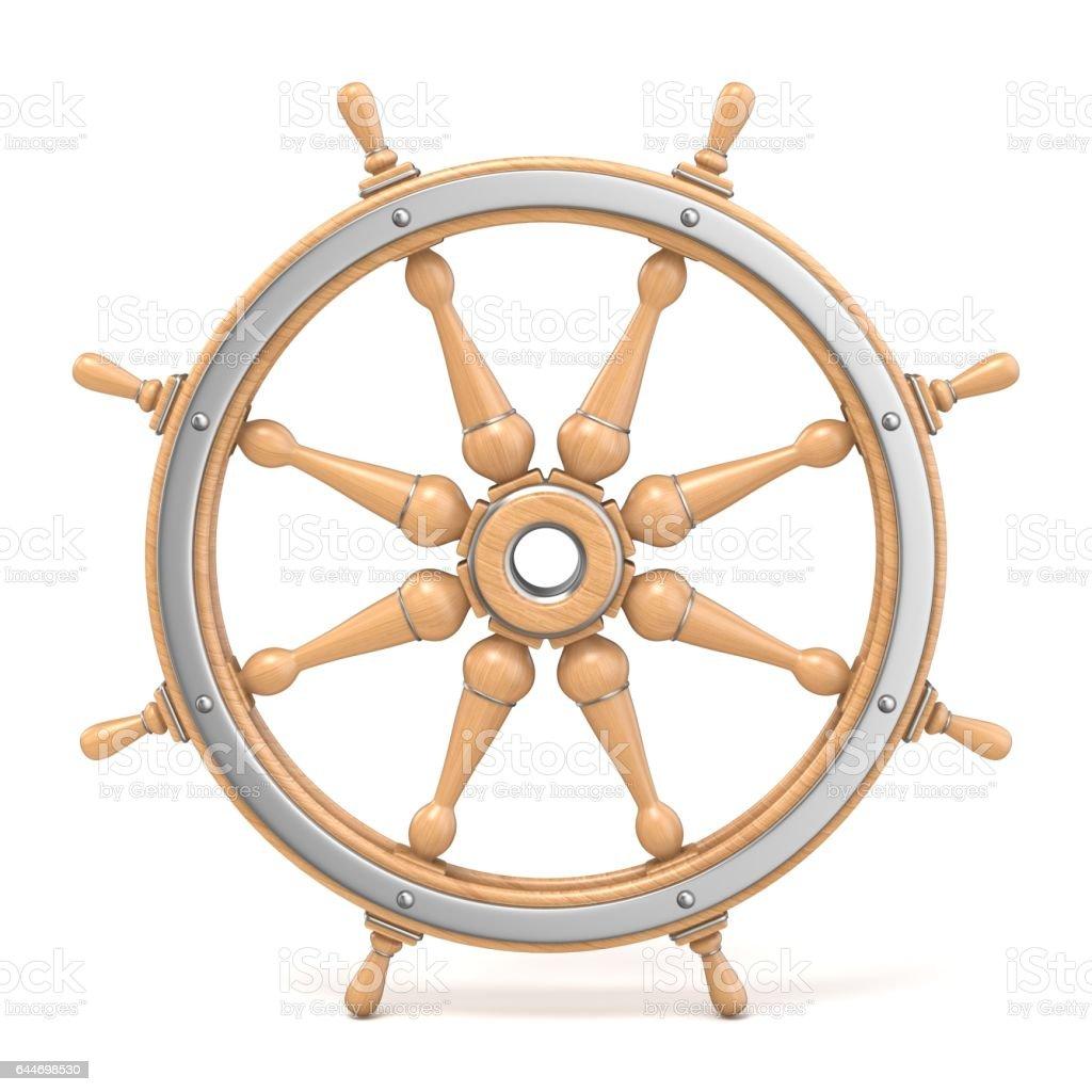 Navire en bois roue 3D - Photo