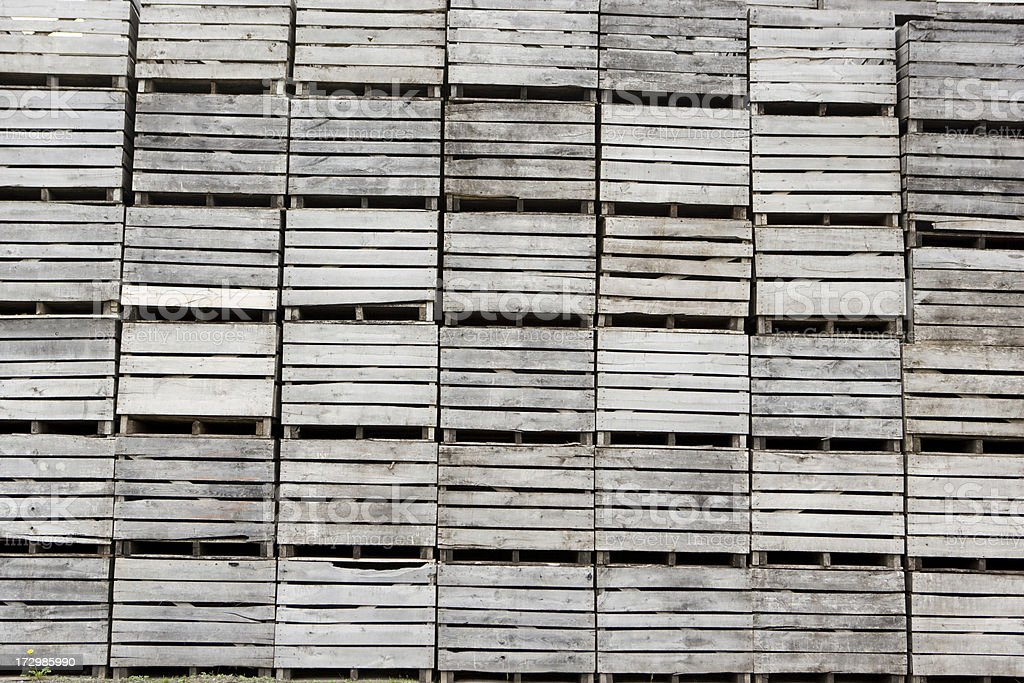 Wooden shipping crates royalty-free stock photo