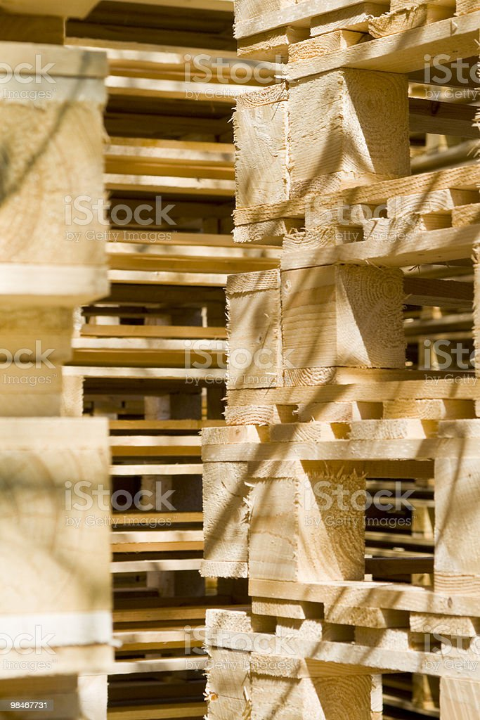 Wooden Shipping Pallets royalty-free stock photo