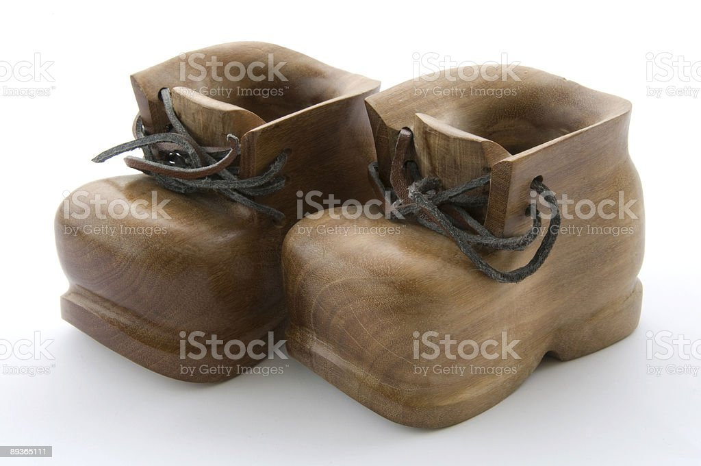 Wooden Shoes Artifact royalty-free stock photo
