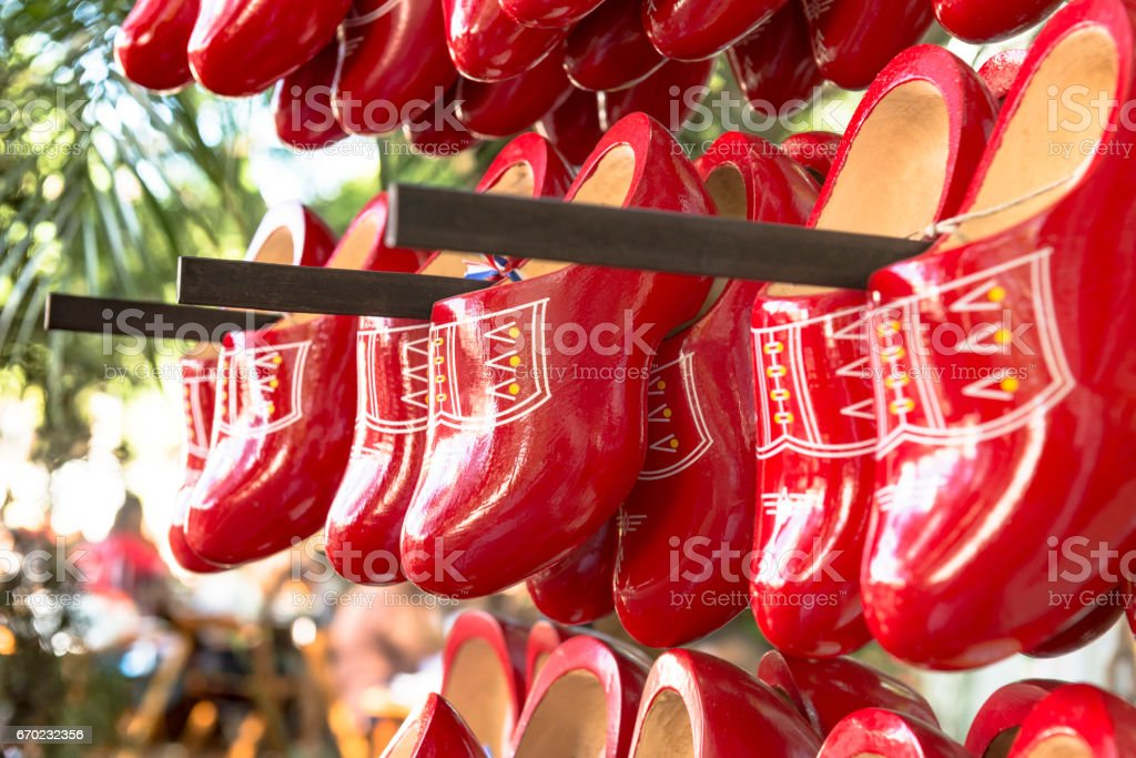 Wooden Shoes stock photo