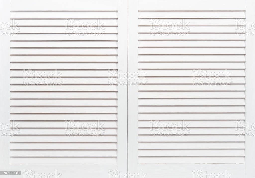 Wooden shutters stock photo