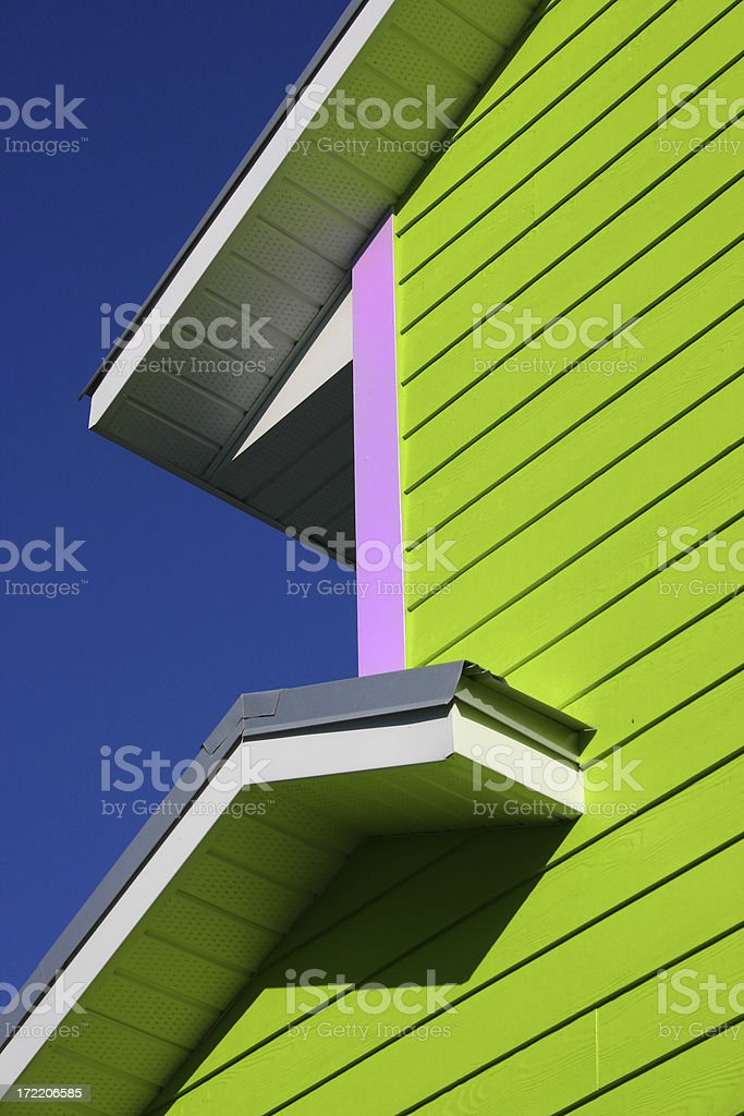 Wooden siding. royalty-free stock photo