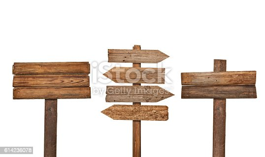 istock wooden sign background message 614236078