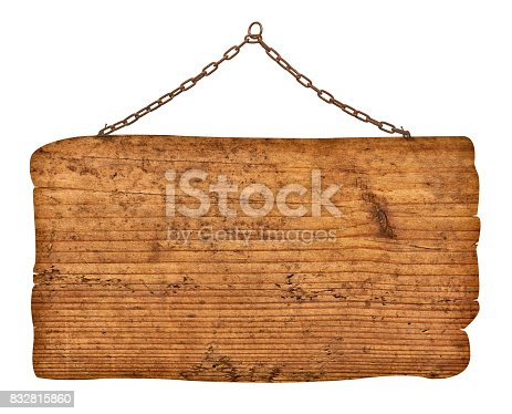 istock wooden sign background message rope chain hanging 832815860
