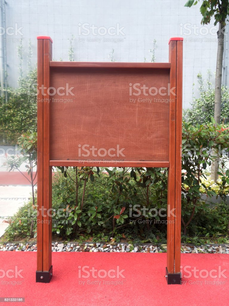 Wooden Sign Directional Guidepost empty stock photo