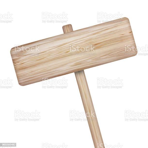 Foto de Placa De Madeira Isolada No Fundo Branco e mais fotos de stock de Carpintaria