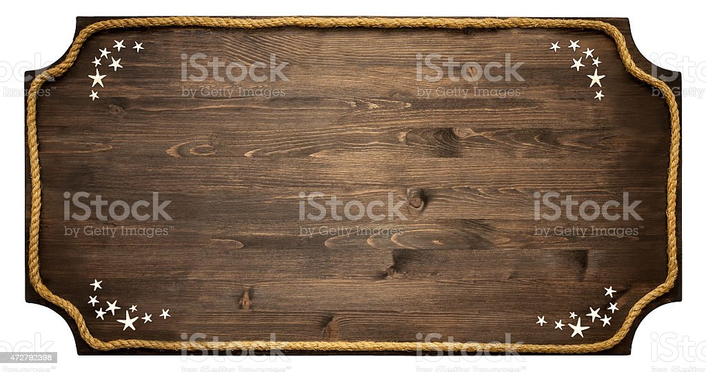 wooden sign isolated stock photo