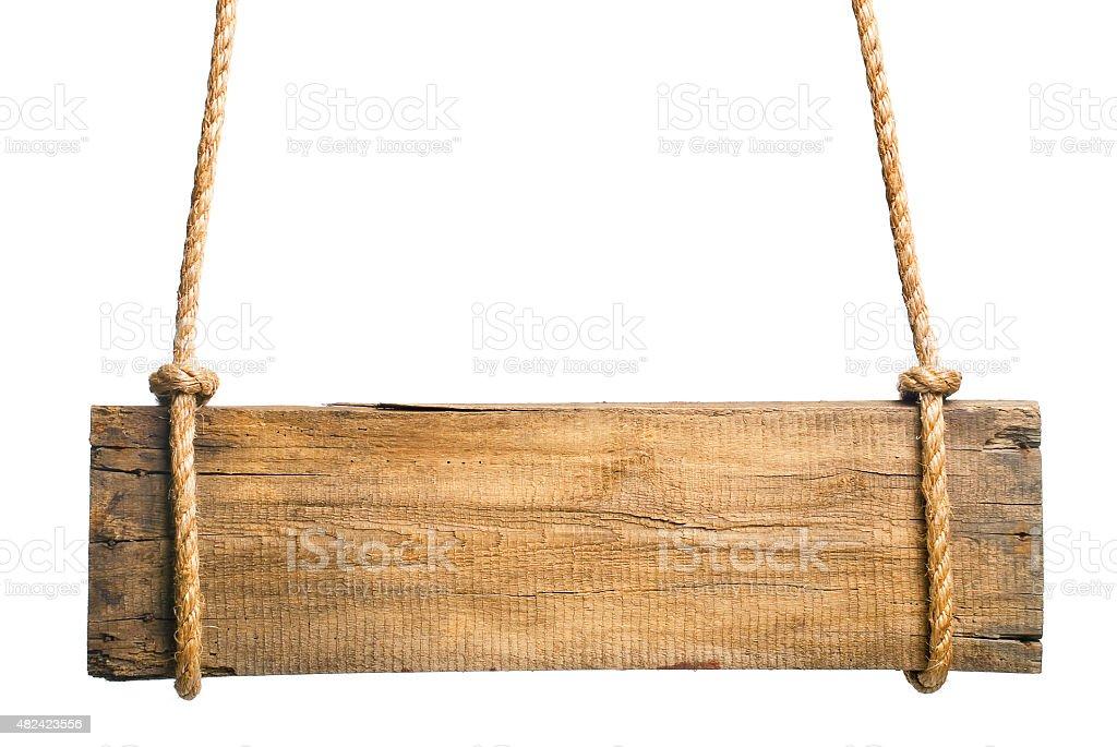 Cartel de madera sobre un fondo blanco - foto de stock
