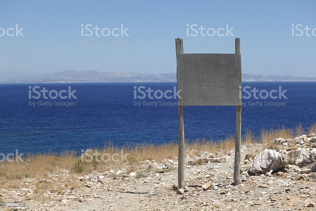 Wooden sign stock photo