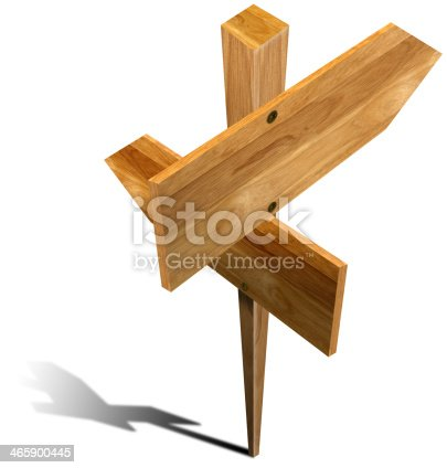 185884645 istock photo Wooden Sign with two arrows 465900445