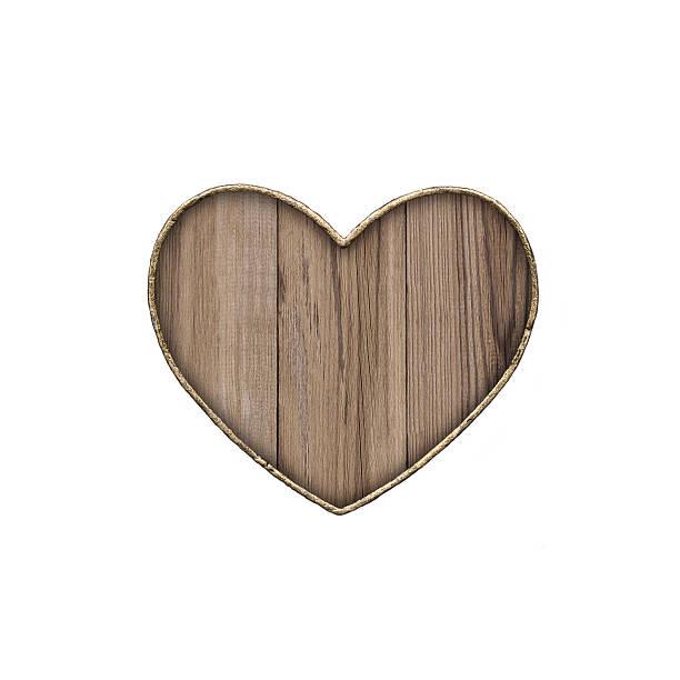 Hölzerne Schild in der form von Herzen – Foto