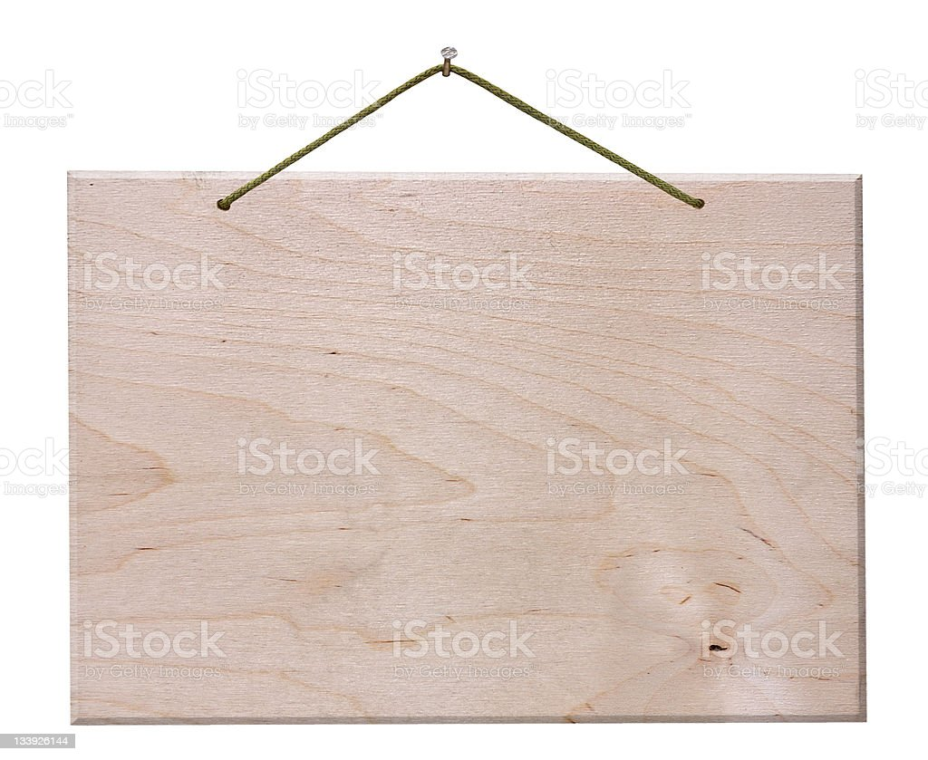 wooden signboard - isolated with clipping path royalty-free stock photo