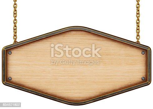 istock Wooden signboard 834521802