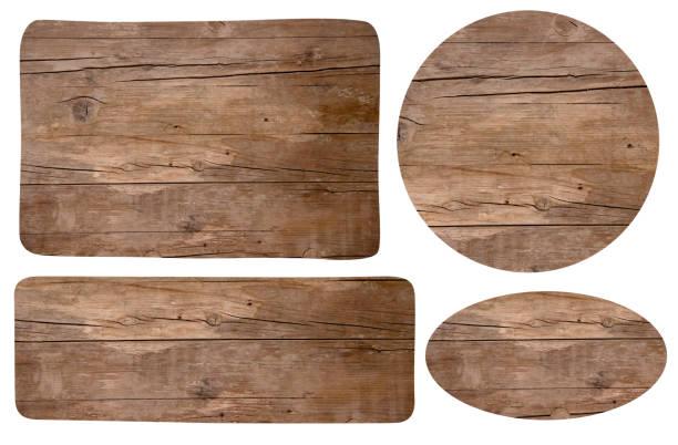 trä signes - wood sign isolated bildbanksfoton och bilder