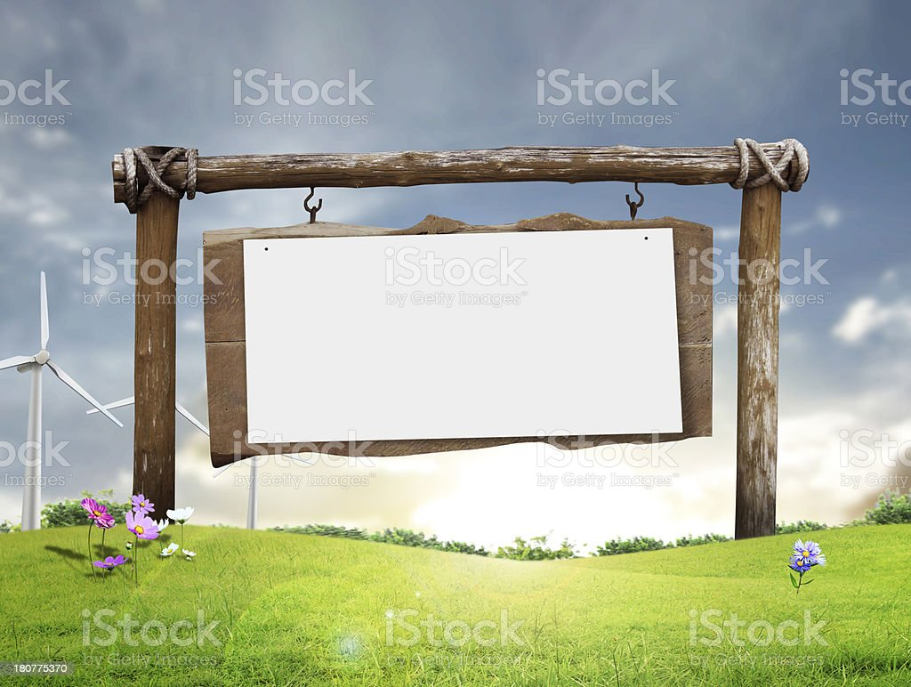 Wooden signs royalty-free stock photo