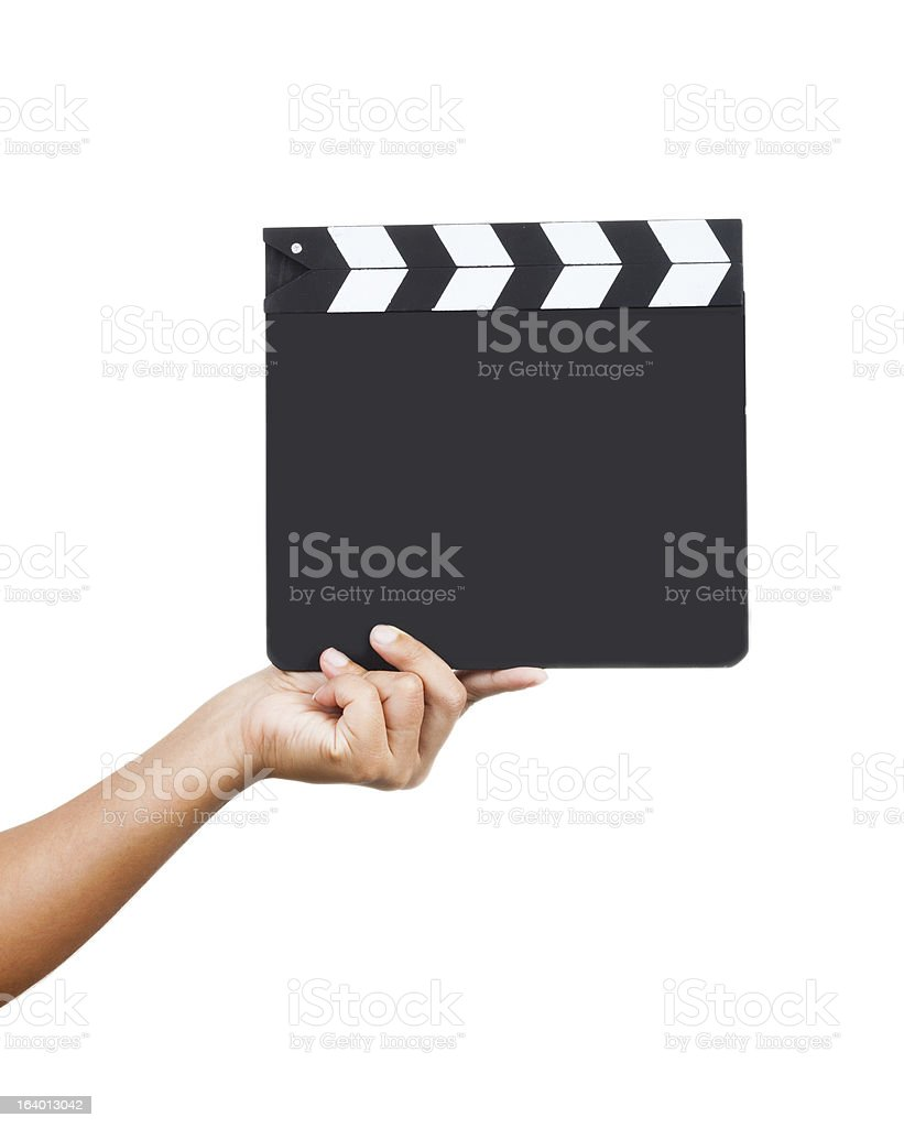 Wooden Slate in hand royalty-free stock photo