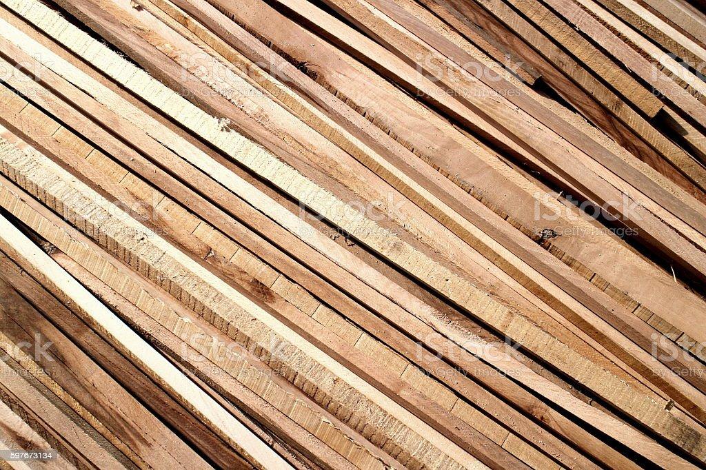 Wooden slats diagonally order stock photo