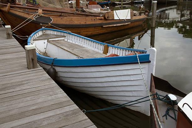 Wooden sloop stock photo