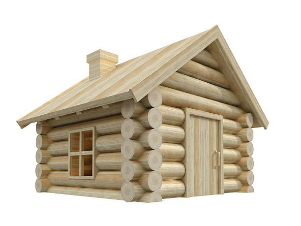 Kleines Haus aus Holz – Foto