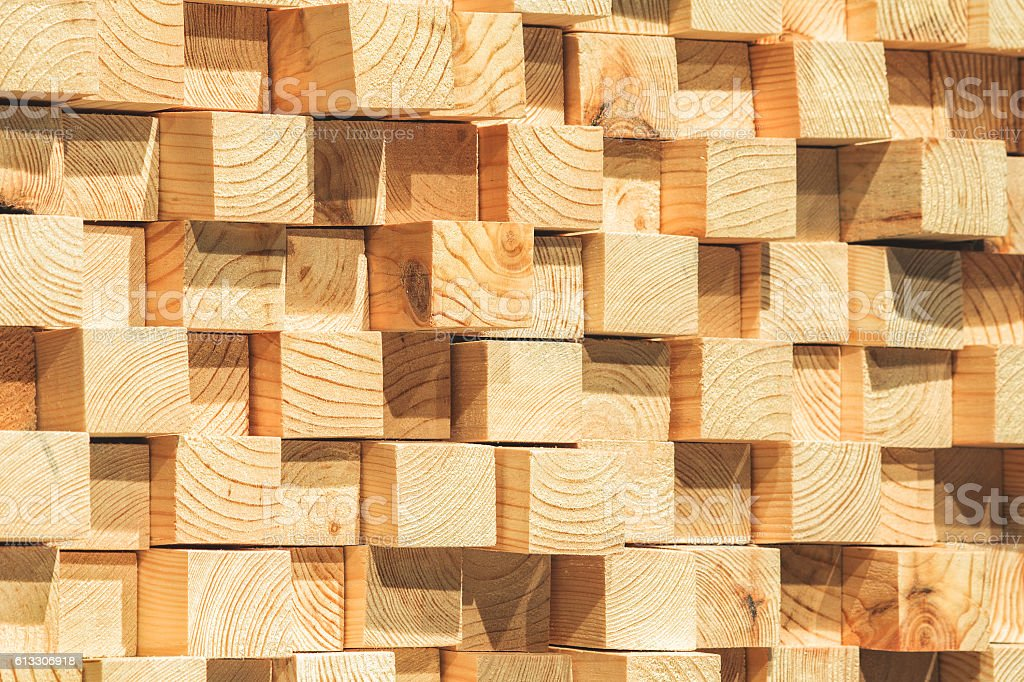 wooden soundproofing. stock photo