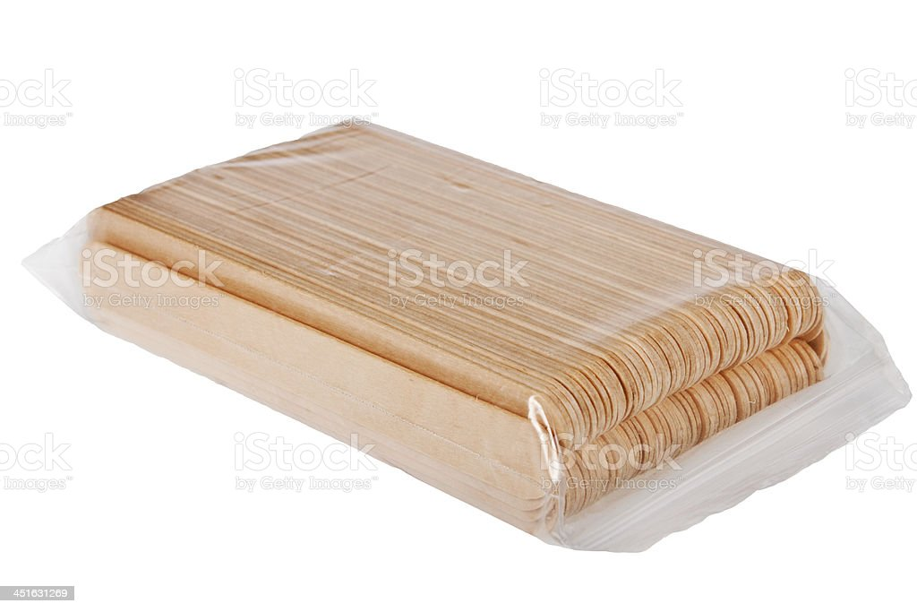Wooden spatula. stock photo