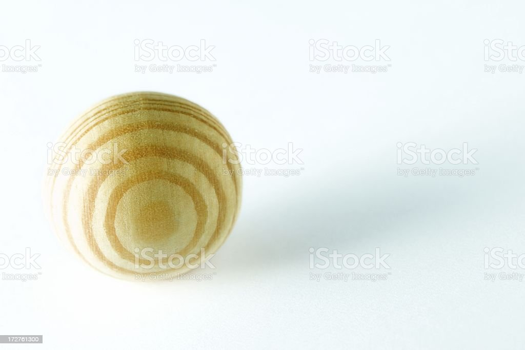 Wooden sphere royalty-free stock photo
