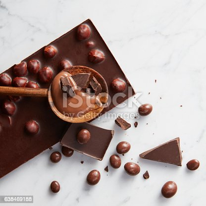 istock wooden spoon with chocolate 638469188