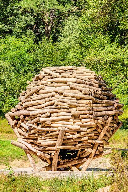 Schichtabsatz aus Holz Spielplatz – Foto