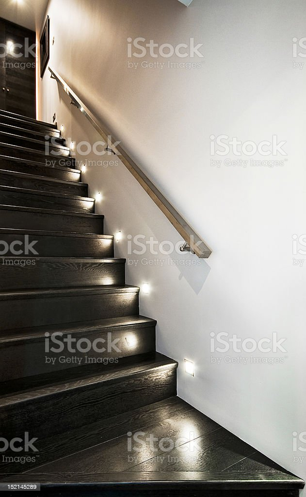 wooden staircase royalty-free stock photo