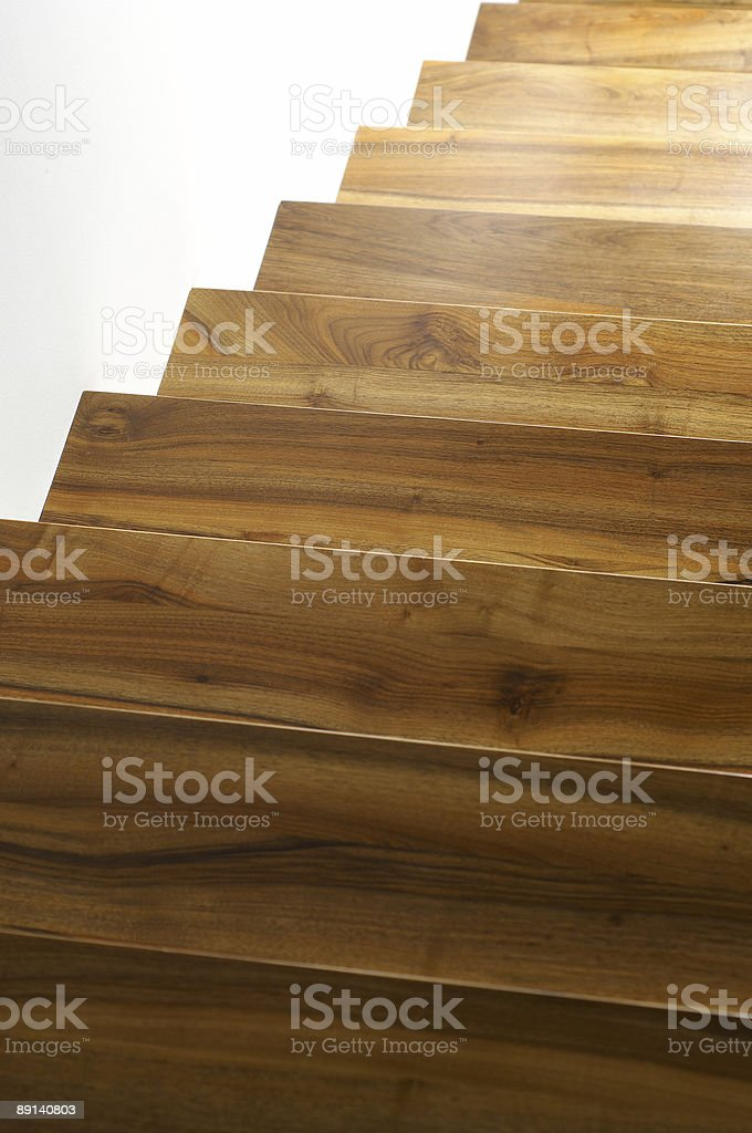 Wooden stairs royalty-free stock photo