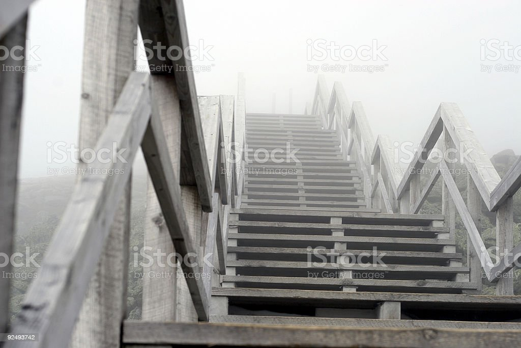 Wooden Stairway to Heaven royalty-free stock photo