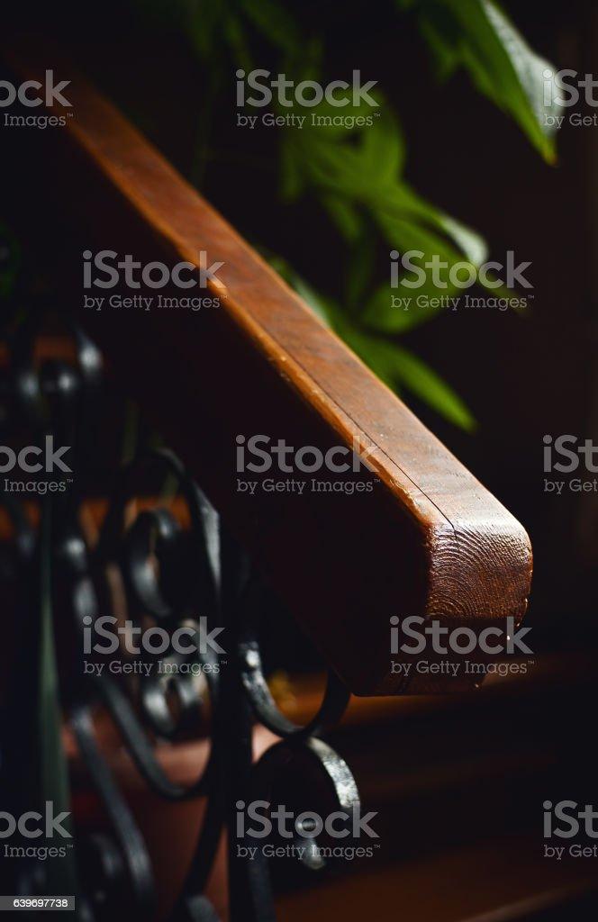 Wooden Stairways Fence stock photo