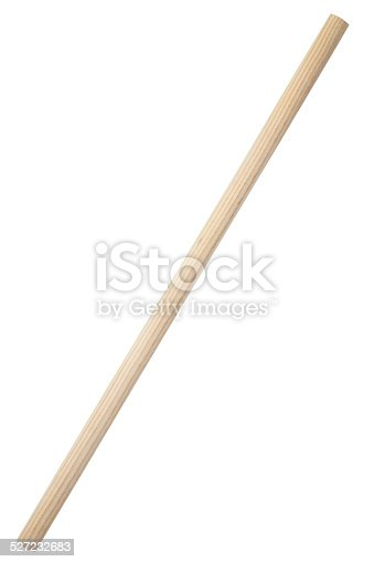 Wooden stick isolated on white background