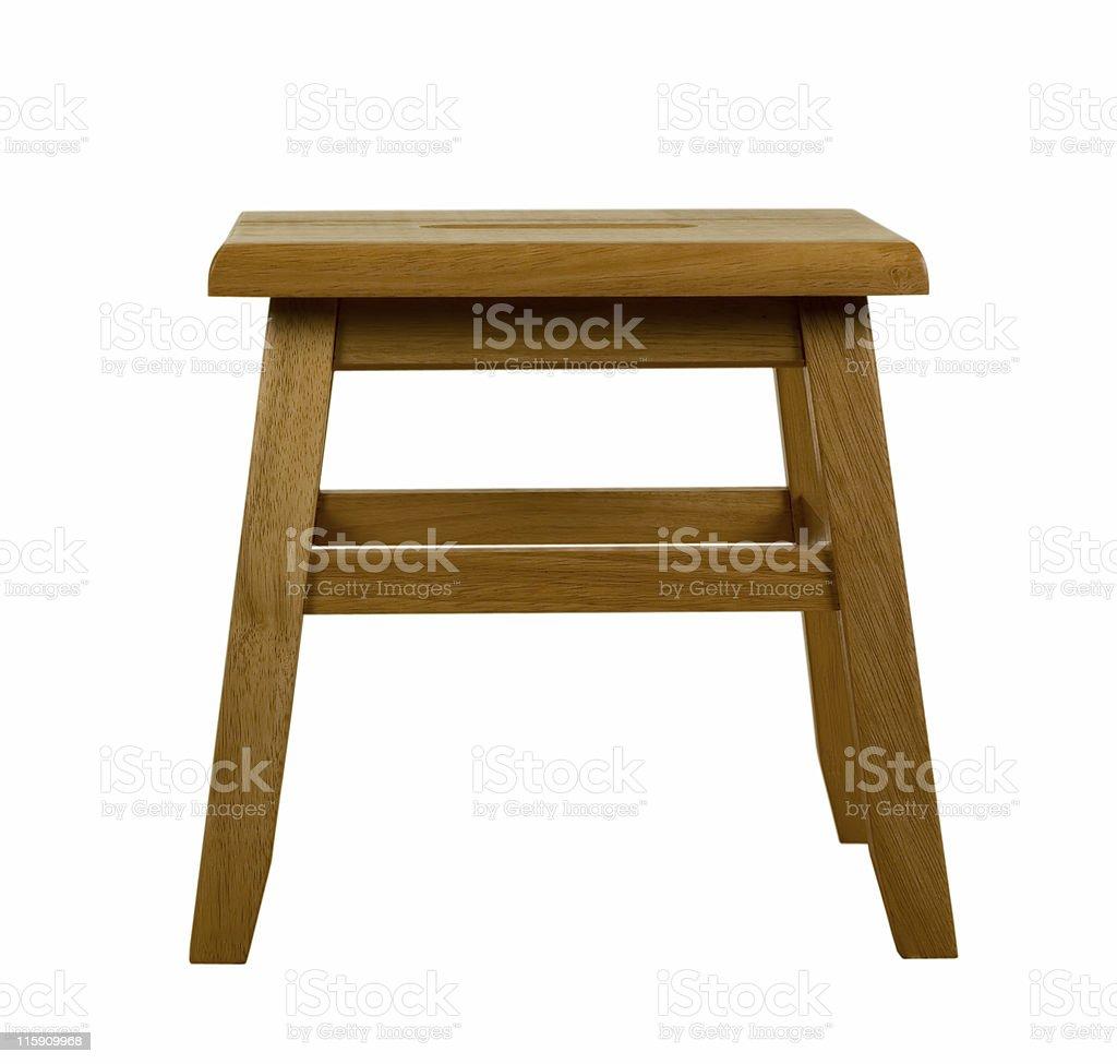 Wooden Stool royalty-free stock photo