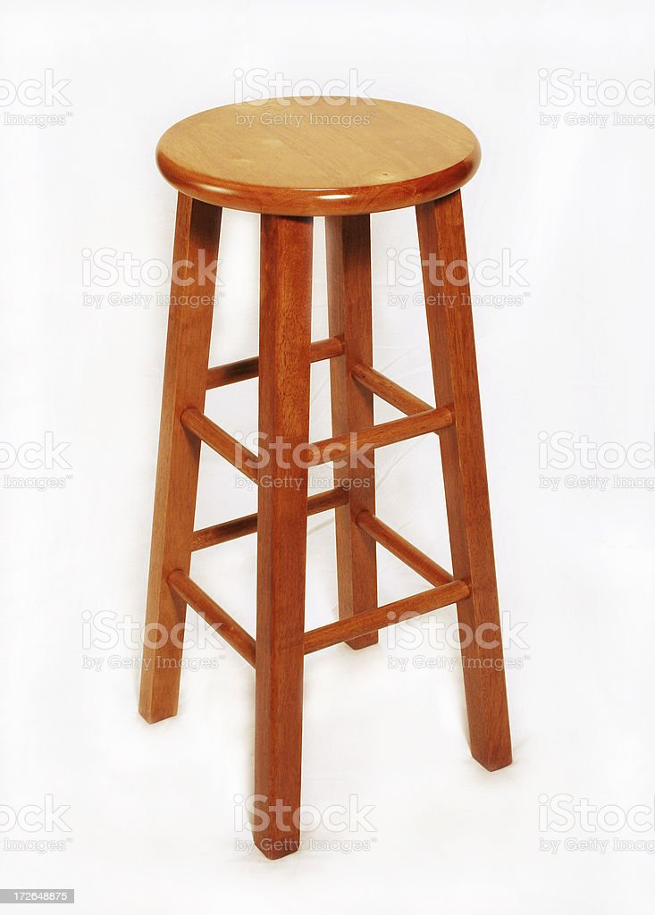 Wooden Stool royalty-free stock photo