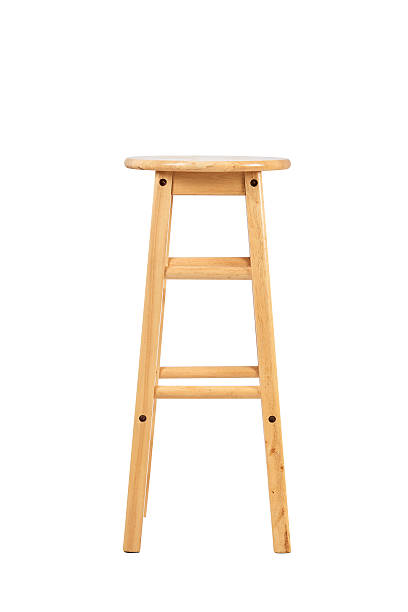 Wooden stool Wooden stool on white background stool stock pictures, royalty-free photos & images