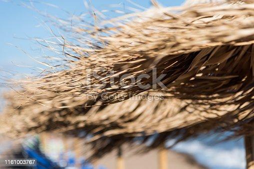 Wooden Straw Parasol