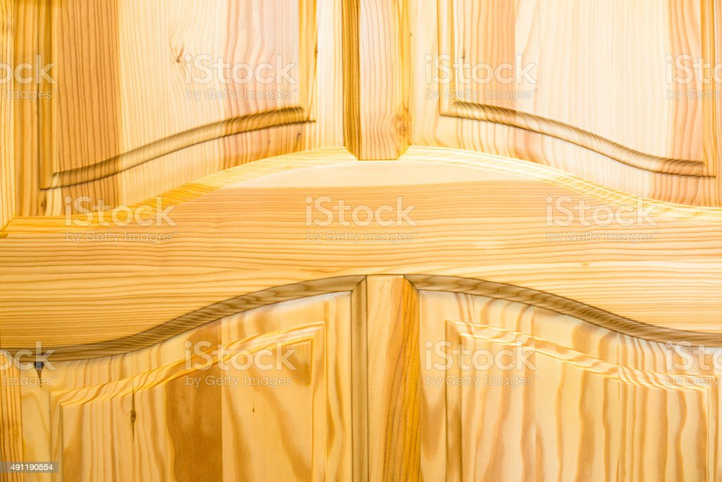 Wooden surface. Frame and panel construction stock photo