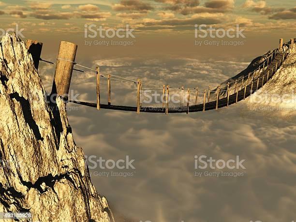 Photo of Wooden suspension bridge