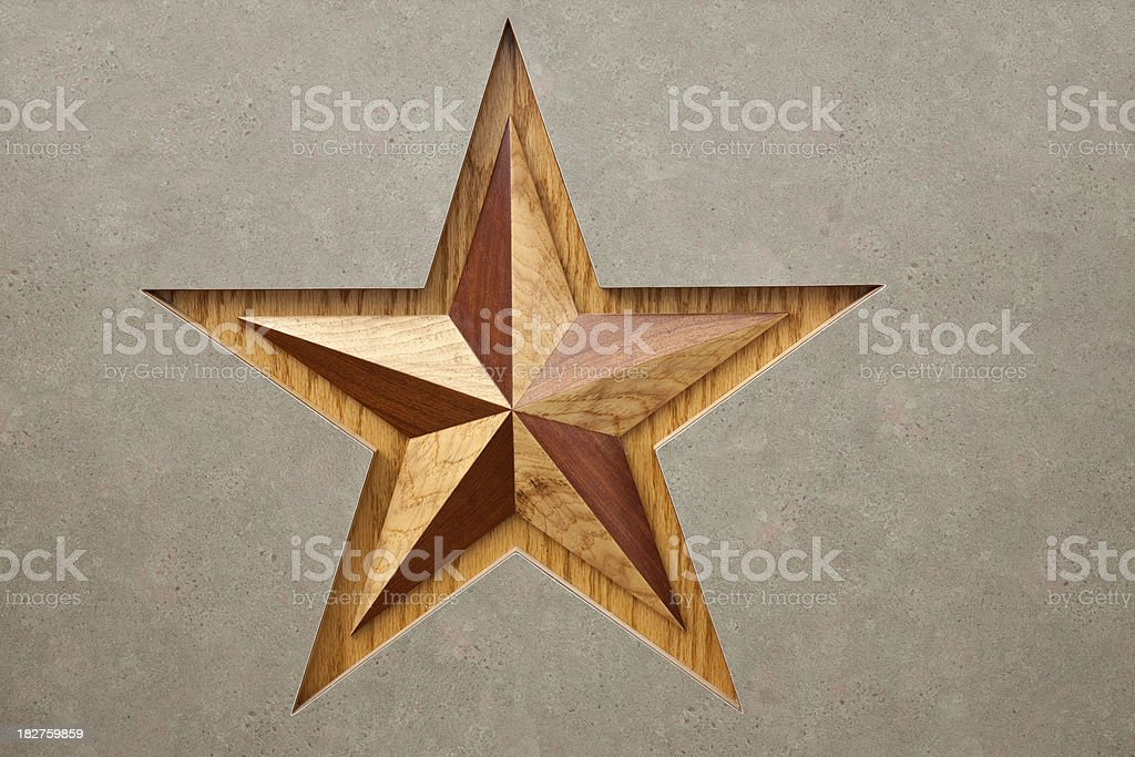 Wooden Symbol For Texas The Lone Star State Stock Photo More
